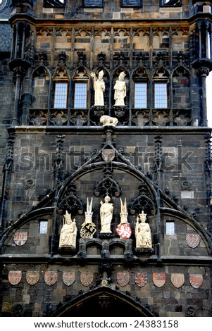 Prague. Charles bridge. Details