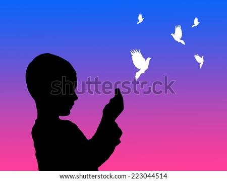 praying illustration  - stock photo