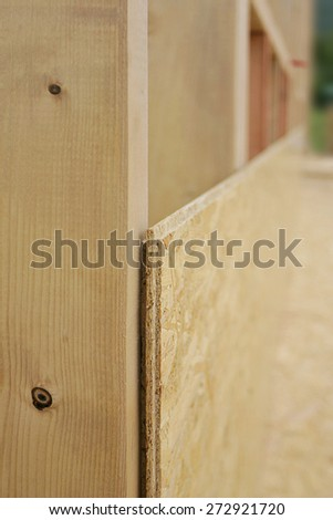 Prepare the floor for wood construction. Cutting boards - stock photo