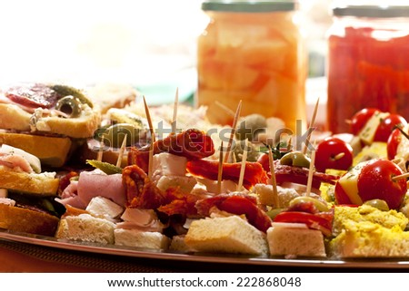 prepared delicious appetizer  - stock photo