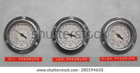 3 pressure guade set - stock photo