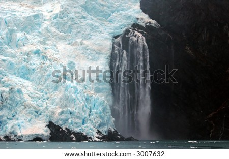 """Prince William Sound"", Alaska, Glacier - stock photo"