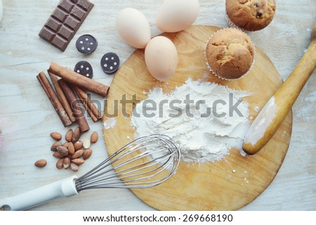 process of making cupcakes