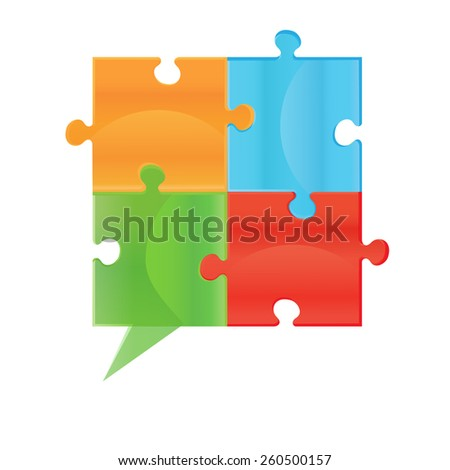 puzzle. Design elements for your logo. Colorful Symbol. 02