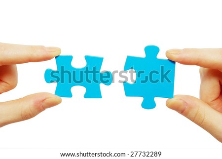 puzzles in hands