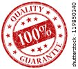 100% quality guarantee - stock photo