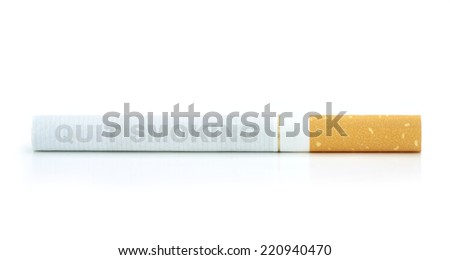 """ Quit smoking "" text on cigarette - stock photo"