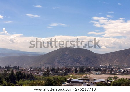 Quito , aerial view, south america - stock photo