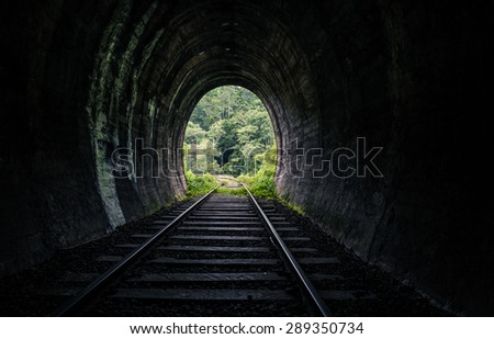 Rail road tunnel  - stock photo