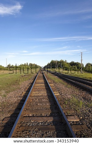 rails (railway), photographed in the summer
