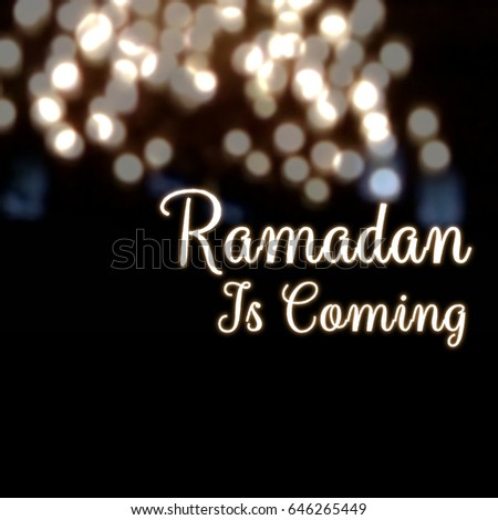 Ramadan coming islam fasting month greetings stock illustration ramadan is coming islam fasting month greetings card abstract lantern light m4hsunfo