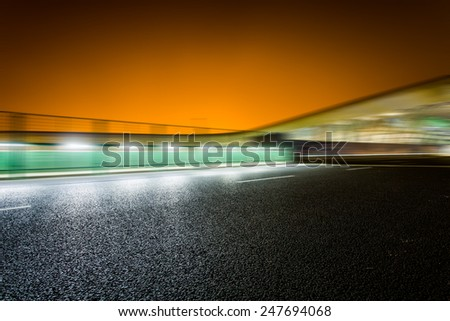 rapid city traffic,motion cars. - stock photo
