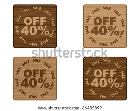 (raster image of vector) advertising banner for sales forty percent discount - stock photo