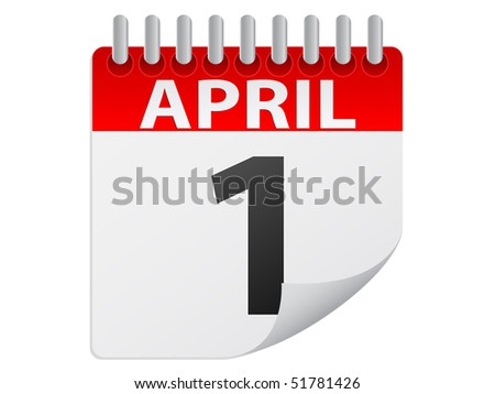 (raster image of vector) april month - stock photo