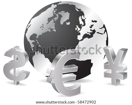 (raster image of vector) Business background - stock photo