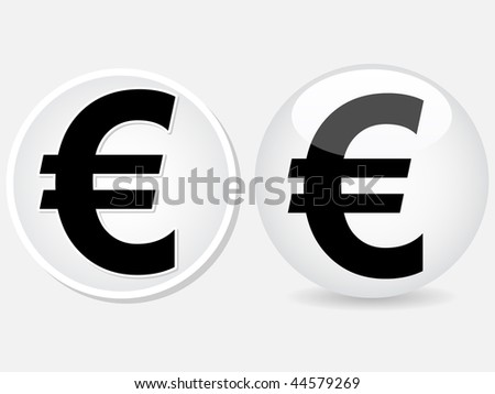 (raster image of vector) euro money icon
