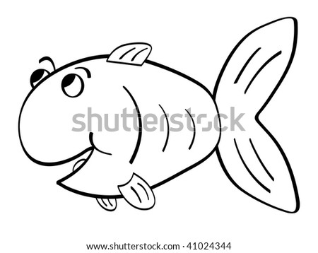 (raster image of vector) fish