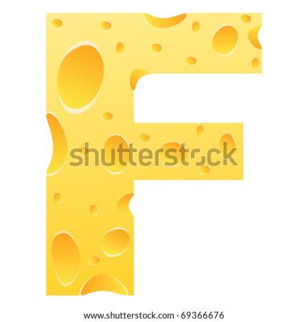 (raster image of vector) letter f - stock photo