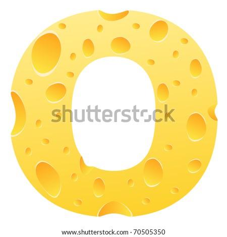 (raster image of vector) letter o - stock photo