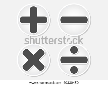 (raster image of vector) mathematics button