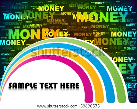 (raster image of vector) money background