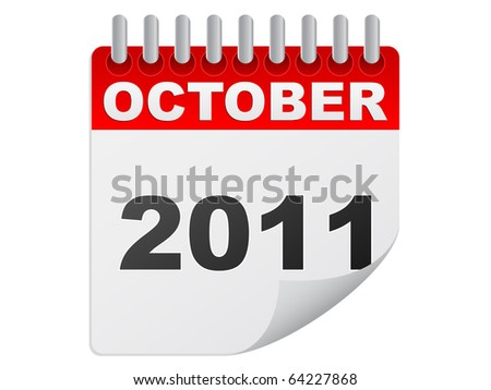 (raster image of vector) october 2011 - stock photo