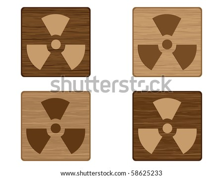 (raster image of vector) radiation icon
