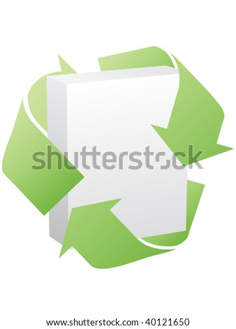 (raster image of vector) recycling box - stock photo