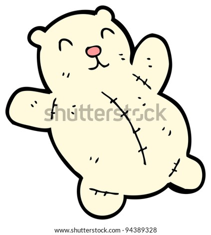 (raster version) cartoon polar teddy bear cartoon