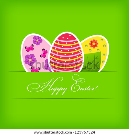 Raster version Paper card with  easter eggs