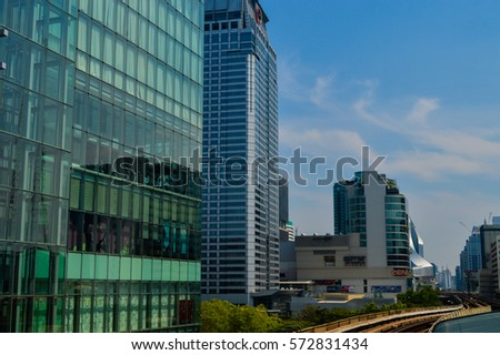 4 Ratchaprasong area in Bangkok, Thailand on January 29, 2017 Building Business for many companies.