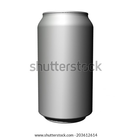 Realistic photo image. Blank can  - stock photo