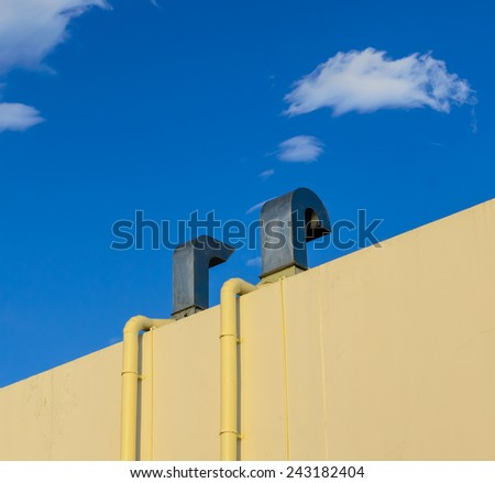 Rear view roof ventilated - stock photo