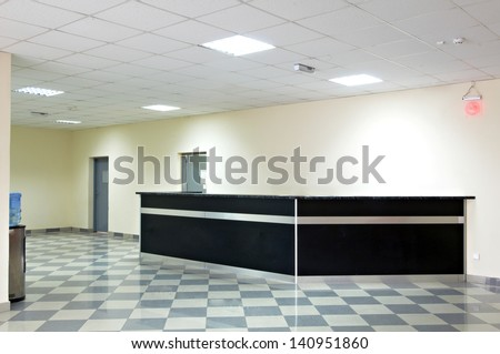 reception area in an office block - stock photo