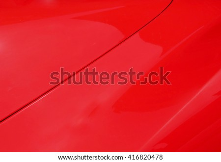 red car detail                               - stock photo