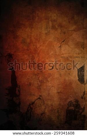 red grunge background  - stock photo