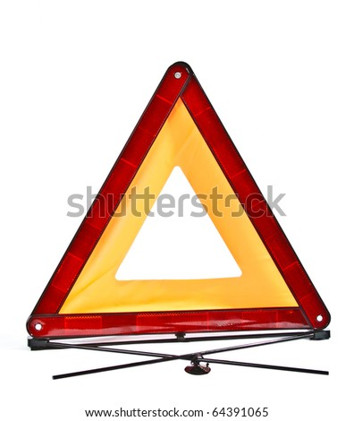 red reflecting safety triangle