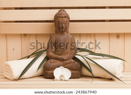 relaxation and inner beauty concept - stock photo