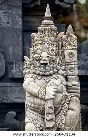 Religious sculpture in temple Bali, Indonesia - stock photo