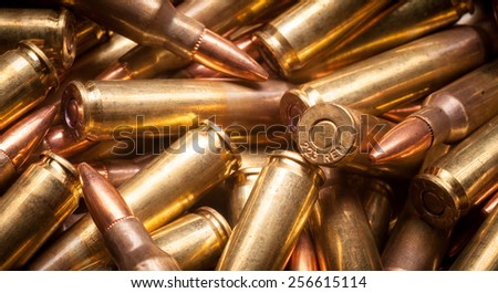 .223 rem or 5.56x45mm - stock photo