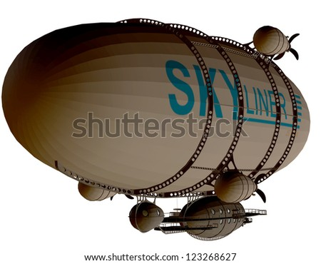 rendering of a Zeppelin as an illustration