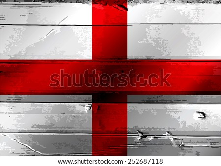 Republic of The England flag - stock photo