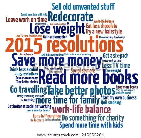 2015 Resolutions - stock photo