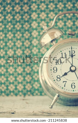 retro alarm clock - stock photo