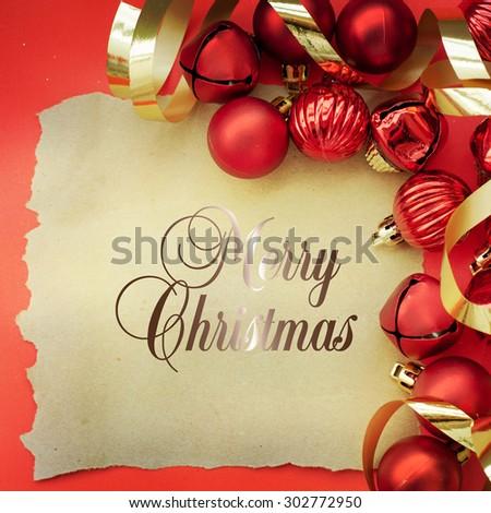 Retro christmas decoration  - stock photo