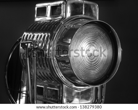 Retro Hollywood style movie light - stock photo