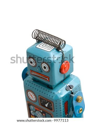 retro  robot toy - stock photo