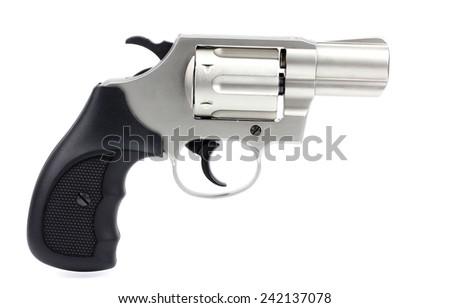 Revolvers on  a white background - stock photo