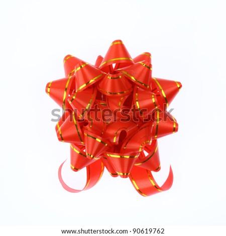 ribbon new year on white background - stock photo