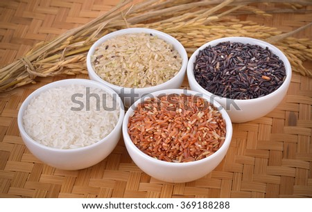rice variety for healthy  - stock photo